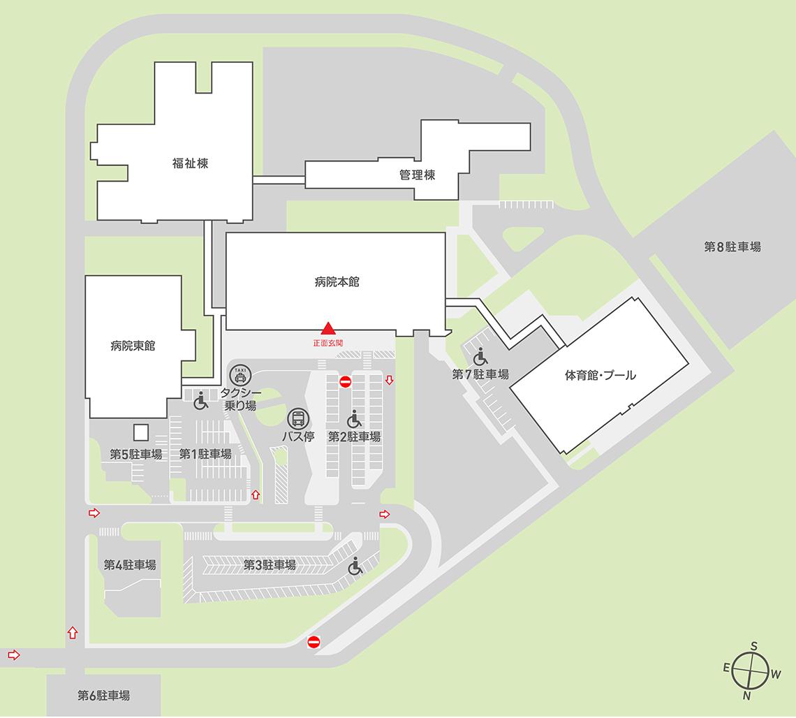 神奈川県総合リハビリテーションセンター エリアマップ