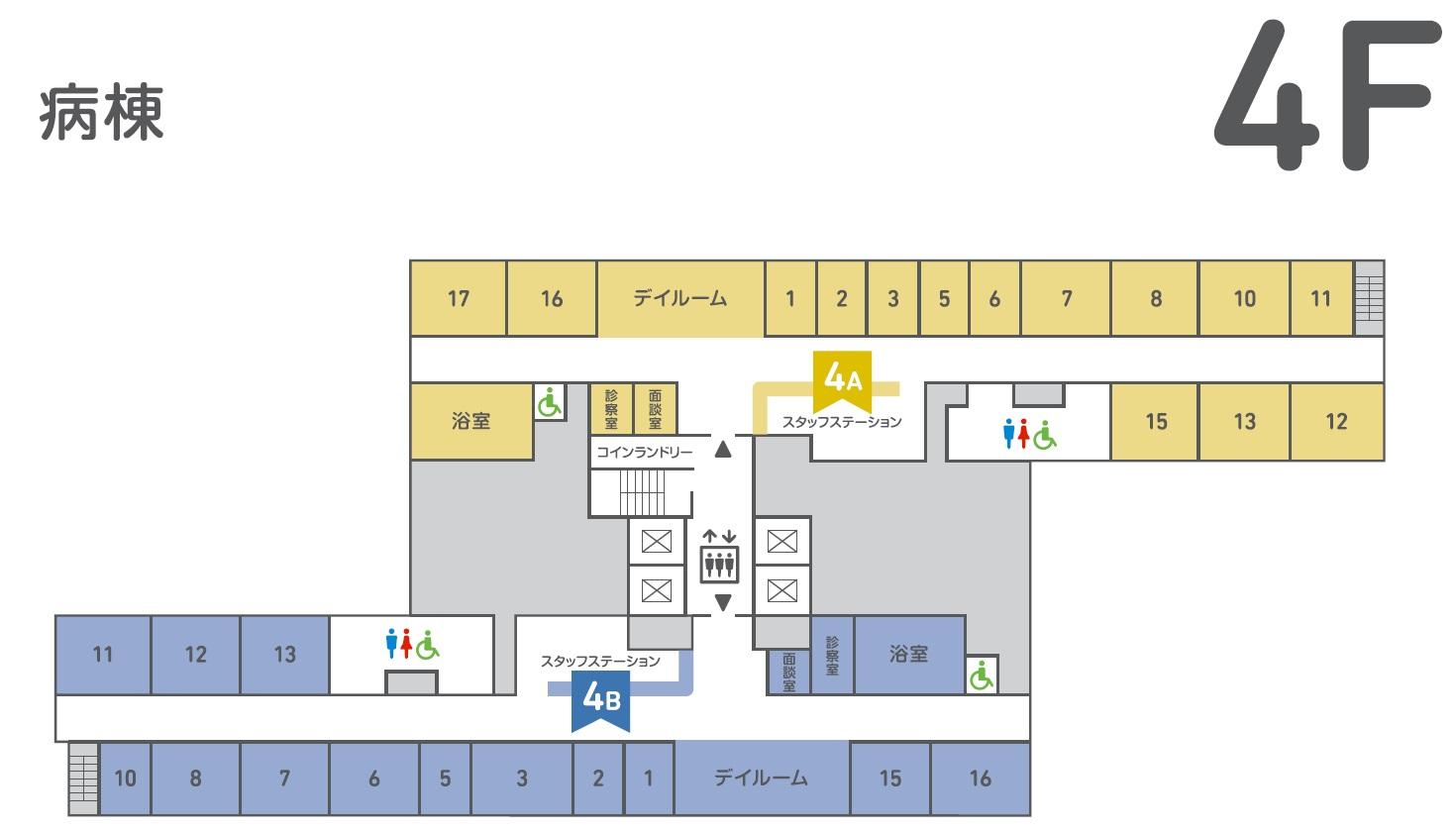 フロア図4階