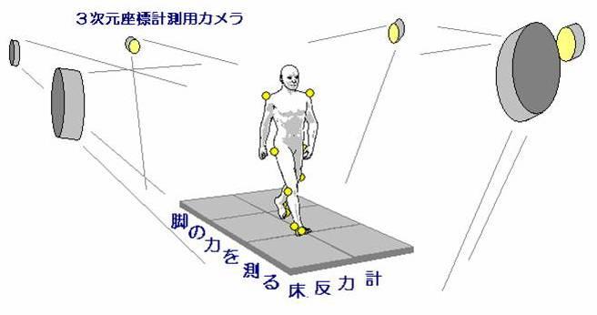 歩行計測の様子