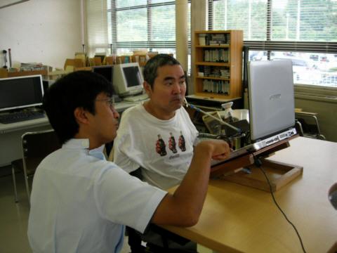 PC操作の写真