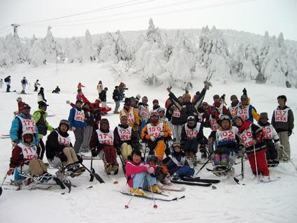 日本チェアスキー協会講習会の写真