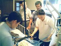 地域ケアスタッフとの合同退院前訪問指導の写真
